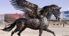 Steampunk Animal Sculptures Made Of Scrap Metal By Hasan Novrozi | Bored Panda