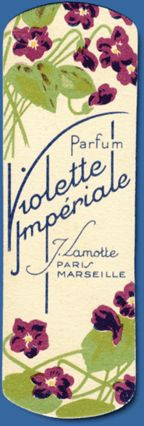 scented perfume card bookmark J Lamotte, Paris, Marseille