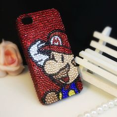 Super Mario Custom Bling Case Cover for iPhone 5 / 4 / 3G