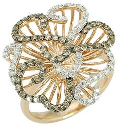 Champagne Diamond Fancy Cocktail Gold Ring - 1.00ct.