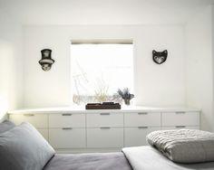 Small bedroom built-in storage