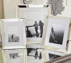 Beveled Silver-Plated Frames | Pottery Barn