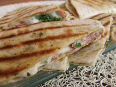 Marmita: Quesadillas de presunto e salsa