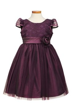 Sorbet+Lace+&+Taffeta+Dress+(Toddler+Girls,+Little+Girls+&+Big+Girls)+available+at+#Nordstrom