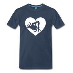Motorradkuß corazón Camisetas