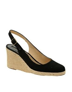 Pied A Terre Imperia Slingback Espadrile Wedge Shoes