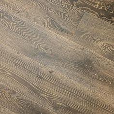 "White Oak Quiet Storm 9/16 x 7-1/2"" Wire Brushed Engineered Hardwood Flooring"