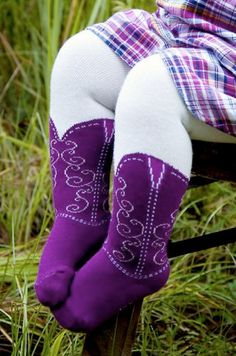 Baby Cowgirl Boot Tights...hopefully they won't ever make this in a big kids version...that's all we need... hs girls wearing these to school!  Lol @ Gillian