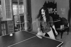 Frank Zappa playing Table Tennis.  www.facebook.com/adrianshieldsphoto
