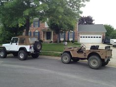 1995 Jeep Wrangler YJ 1945 Willys Overland cj2a submitted by mike gardner