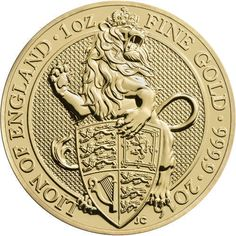 2016 1 oz British Gold Queen's Beast Coins from JM Bullion Gold Coins For Sale, Gold And Silver Coins, Gold Gold, Gold Bullion Bars, Bullion Coins, 1 Oz Gold Coin, Pablo Emilio Escobar, Foreign Coins, Coin Art