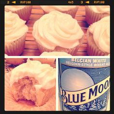 orange cream cheese frosting + blue moon cupcake = brilliant!