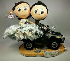Una Fofucha como tu: Soraya y Marcos, dos encantadores novios, con quad incluido... https://www.facebook.com/UnaFofuchacomotu