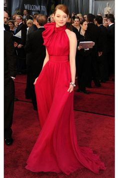 Emma Stone in a Giambattista Valli gown at the 84th Annual Academy Awards in 2012. See all of the star's best looks.