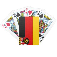 Flag of Rhineland-Palatinate Bicycle Playing Cards - diy cyo customize create your own personalize