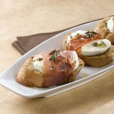 prosciutto melts by zestycook- this makes me want to have a cocktail party