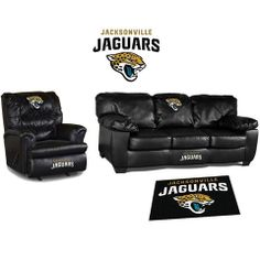 Use this Exclusive coupon code: PINFIVE to receive an additional 5% off the Jacksonville Jaguars Leather Furniture Set at SportsFansPlus.com