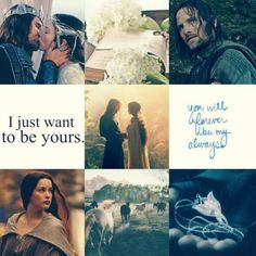 """Aragorn x Arwen Aesthetic    """" I would rather share one lifetime with you than face all the Ages of this world alone."""""""
