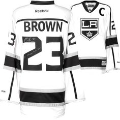 Dustin Brown Los Angeles Kings Fanatics Authentic Autographed 2014 Stanley Cup Champions Reebok White Jersey with SC Champs 2012/2014 Inscription - $343.99