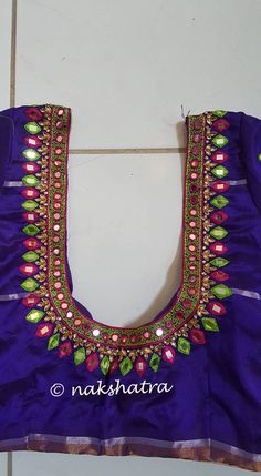 Traditional Blouse Designs, South Indian Blouse Designs, Simple Blouse Designs, Saree Jacket Designs, Saree Blouse Neck Designs, Bridal Blouse Designs, Mirror Work Blouse Design, Maggam Work Designs, Embroidery Neck Designs