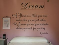 A Dream is a Wish Your Heart Makes, Vinyl Wall Design