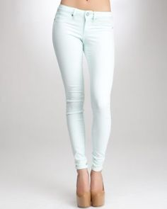 Bebe Signature Stretch Color Skinny Ankle Jean in chalk blue, $98