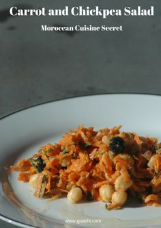 Moroccan Carrot and Chickpea Salad - Goachi #arganoil #Recipes ...