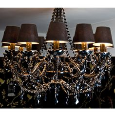 Buttress 12-arm Black Chandelier  |  Chandeliers  |  Lighting  |  French Bedroom Company