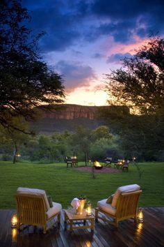 Marataba, a 85,000 acre game reserve at the foot of the Waterberg Mountains in South Africa
