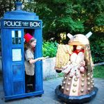Doctor Who Costume  Vote here Handmade Halloween Contest Voting - Becoming Martha Dalek Costume #dalekcostume Tardis Costume #tardiscostume Doctor who themed costume #doctorwhocostume