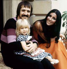 Sonny Bono, Chastity Bono, Cher, ca. early 1970s