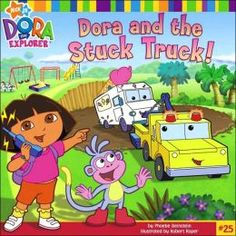 Dora and the Stuck Truck by Phoebe Beinstein. Ice-Cream Truck is stuck, and it's up to Dora and Boots to save him. They call on Ten-Wheeler, Giant Crane, and Bulldozer to help out too. Find this in the picture book section under E BEI. 101 Dalmatians Book, Dora Diego, Mark Thomas, Boston Public Library, Nick Jr, Dora The Explorer, Aristocats, Paperback Books, New Books