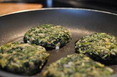 Veg spinach burger