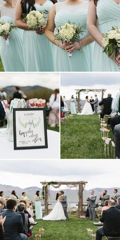 Courtney & Seth Real Vermont Wedding Inspiration | Mountain Top Inn & Resort Emerald Green and Mint Wedding | Vermont Bride Magazine
