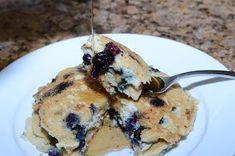 Organically Paleo: Breakfast     Coconut   Pancakes    1 c. almond flour  1/4 tsp. baking soda  1 egg  1 tbsp. coconut oil   (melted)  1/2 tbsp. lemon juice  6 tbsp. almond milk  1/2 c.   blueberries