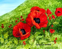 Poppy Field Painting by Tanja Ware - Poppy Field Fine Art Prints and Posters for Sale