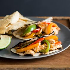 Sweet bell peppers add wonderful flavor and vibrant color to this classic chicken fajita recipe. Bonus: it's ready in under 30 minutes.