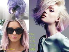 haar in pastelkleuren iets te gewaagd, maar het is een trend! Wie durft, kan het haar poederroze of lavendelpaars te verven. Of gewoon vaak met zilver shampoo, dan wordt het vanzelf paars… Trends, Fett, Bloom, Lilac, Pastel Colors, Lavender