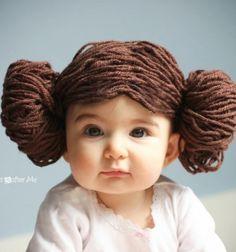 Princess Leia yarn wig - Star Wars costume / Leia hercegnő paróka házilag fonalból star wars jelmezhez / Mindy
