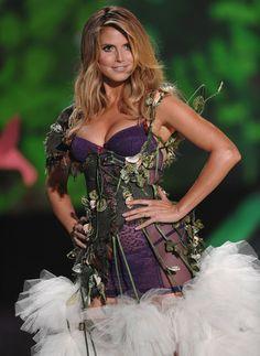 Heidi Klum models for Victoria's Secret