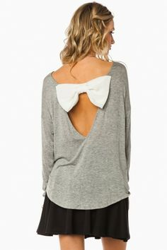 The Last Bow Top in Light Grey