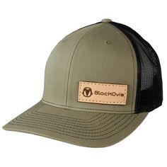5898541d0a9 BlackOvis Leather Meshback Trucker Cap - Loden Black - Arch