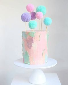 70 Easy Rustic Wedding Ideas That You Could Try in 2018 Hochzeitstorte Ideen – Sweet Bakes Pretty Cakes, Cute Cakes, Beautiful Cakes, Yummy Cakes, Drip Cakes, Cotton Candy Cakes, Fresh Cake, Pastel Cakes, Bolo Cake