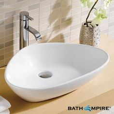 Oval Countertop Basin | Khana Wash Basin - BathEmpire