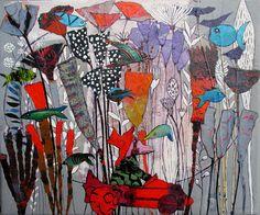 Elke Trittel acrylic collage A4