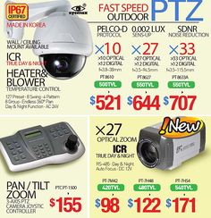 HIGH-SPEED Casino Grade PTZ (Pan Tilt Zoom) Cameras (SONY Dual-HAD CCD HD Chipset / IP67 / Up to 396X Power Zoom / 300 degrees per sec Precifion Motor / Heater & Blower Built-In)