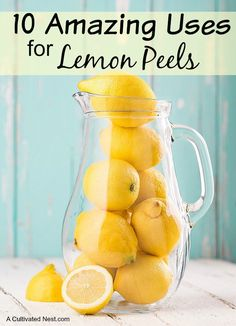 Uses for Lemon Peels - The next time you cut up a lemon, don't be so quick to toss the peel. The truth is, lemon peels have quite a few practical uses making them worth their weight in gold!