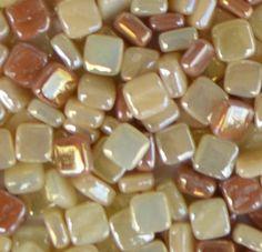 8mm Tan Assortment - Iridescent - Mosaic Glass Tile Includes: #90, 92, 93 & 94