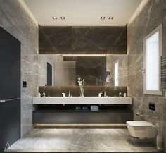 Showcase and discover creative work on the world's leading online platform for creative industries. Bathroom Design Luxury, Bathroom Layout, Modern Bathroom Design, Small Bathroom, Master Bathroom, Master Baths, Washroom Design, Dream Bathrooms, House Design