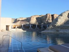 Spend a night at Amangiri, a sleek luxury resort in Big Water, Utah, that blends into its Navajo country surroundings.